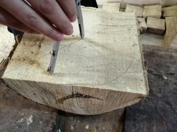 preparar la madera para tornear